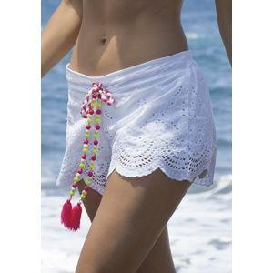 Dámské plážové šortky Ysabelmora 85594 S Bílá