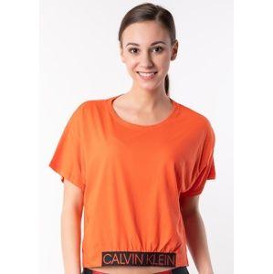 Dámské tričko Calvin Klein KW0KW00726 XS Oranžová