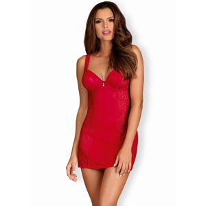 Dásmká košilka Obsessive Rougebelle chemise L/XL Červená