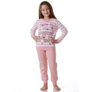 Dívčí pyžamo Cotonella DB242 5/6 Lososová