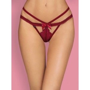 Elegantní tanga Wonderia thong bordó - Obsessive L/XL Bordó