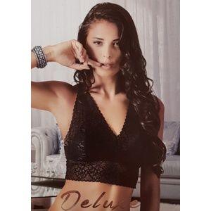 Luxusní krajková braletka Pierre Cardin Gardenia S Černá