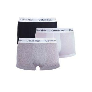 Pánské boxerky Calvin Klein U2664G 3PACK Č+B+Š S Mix