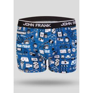 Pánské boxerky John Frank JFBD216 XL Modrá