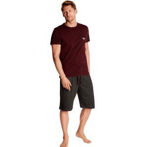 Pánské pyžamo Henderson 38361 L Wine
