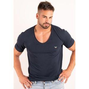 Pánské tričko Emporio Armani 111767 8P510 S Tm. modrá
