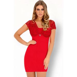 Pohodlná košilka Mishkata červená - LivCo Corsetti L/XL Červená