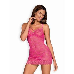 Sladká košilka 860-CHE pink - Obsessive S/M Růžová